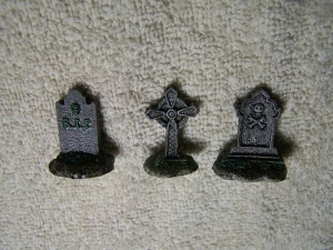 112 Head stones with black wash